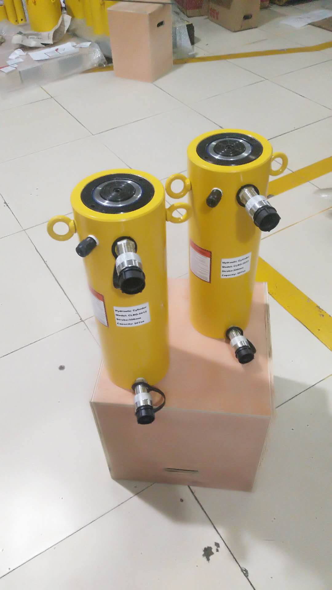 50 ton double acting hydraulic cylinder
