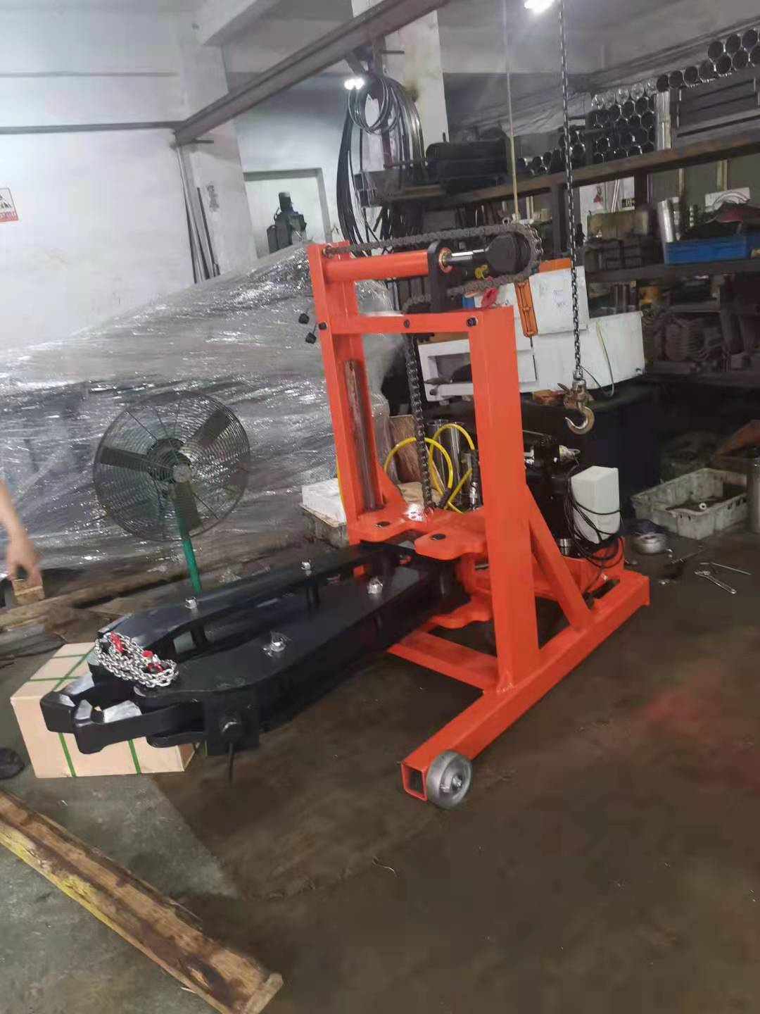 mobile hydraulic puller