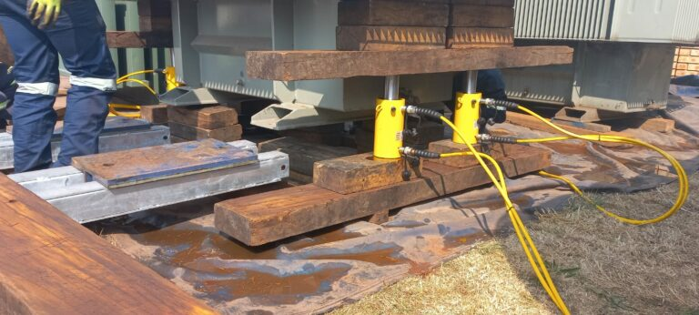 Hydraulic Jacking And Skidding System For Transformer Relocation